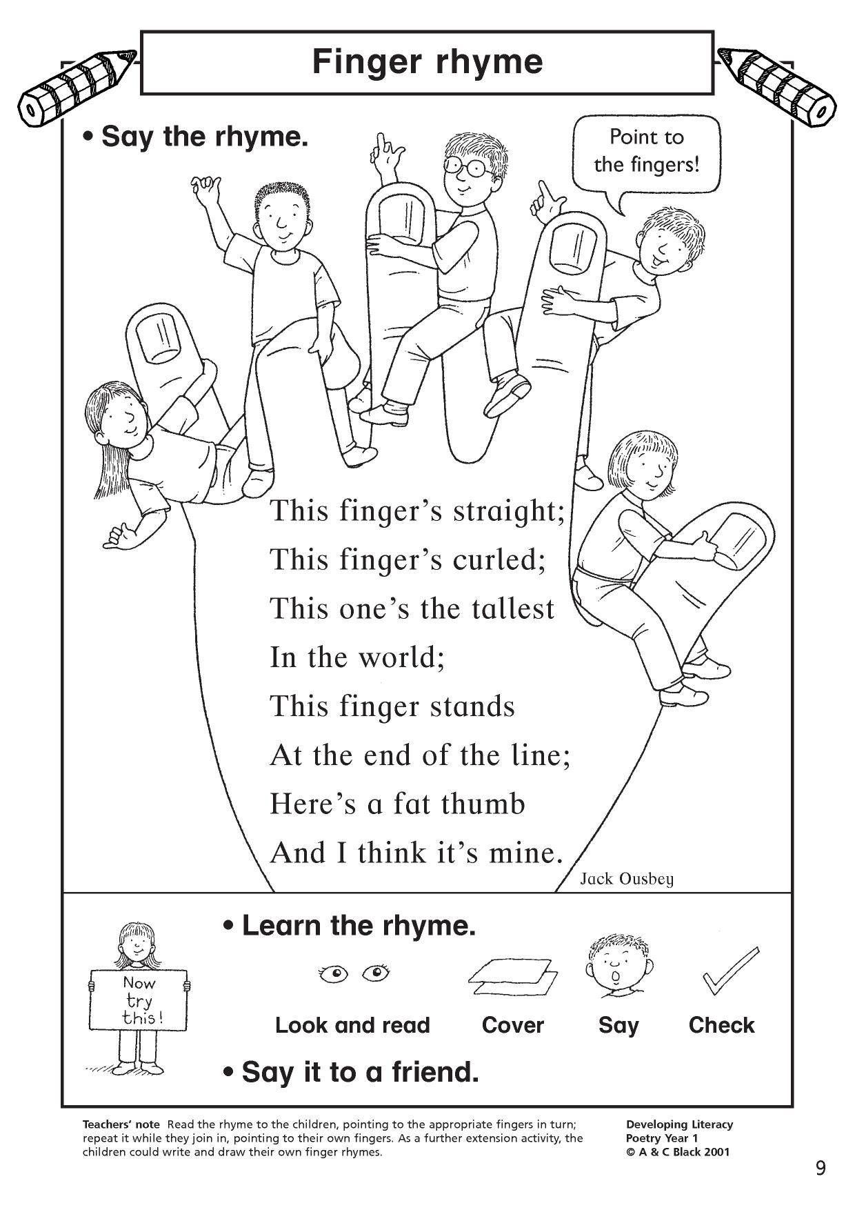 7 Worksheets Poems Identifying Patterns 2 Eyfs Ks1 Ks2