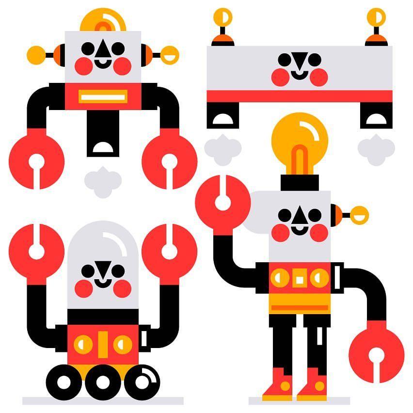 *Beep beep boop* Made some new friends during my break from today's work. • • • #robot #robots #friends #work #childrensbooks #lunch #drawing #doodle #kids #kidslit #kidslitart #love #vectorart #vector #drawing #sketch #book #kawaii #digitalart #art #artoftheday #artist #doodles #play #cute #illustration #illustrator #artwork #artist