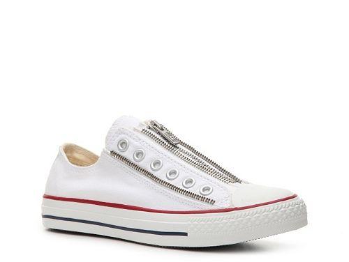 converse chuck taylor all star zipper slip-on sneaker - womens