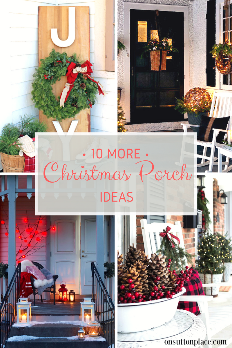 Outdoor porch christmas decorations  Christmas Christmas decor Christmas porch decor holiday home