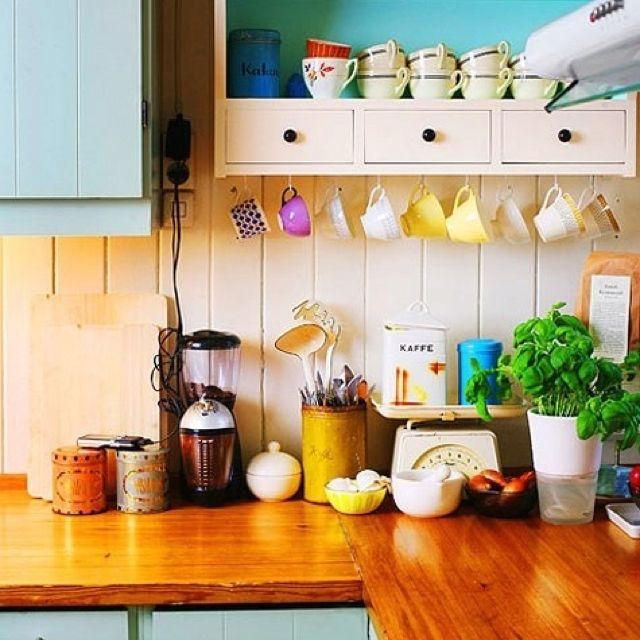 Coffee Mugs On Hooks Really Like This Idea
