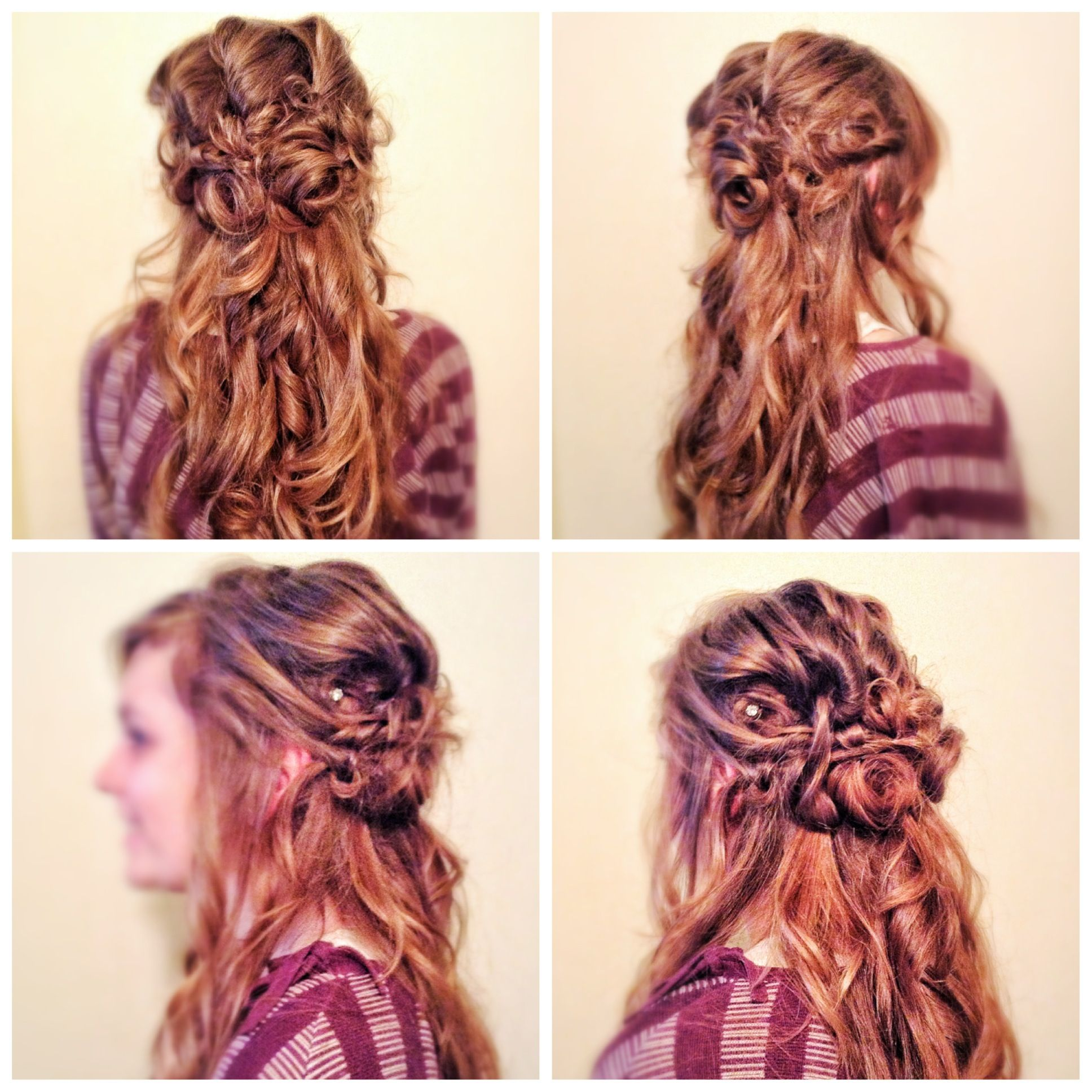Prom hair #hairstyle