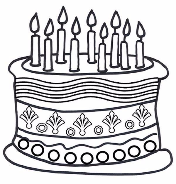 Happy Birthday Unicorn Cake Coloring Pages - Coloring ...