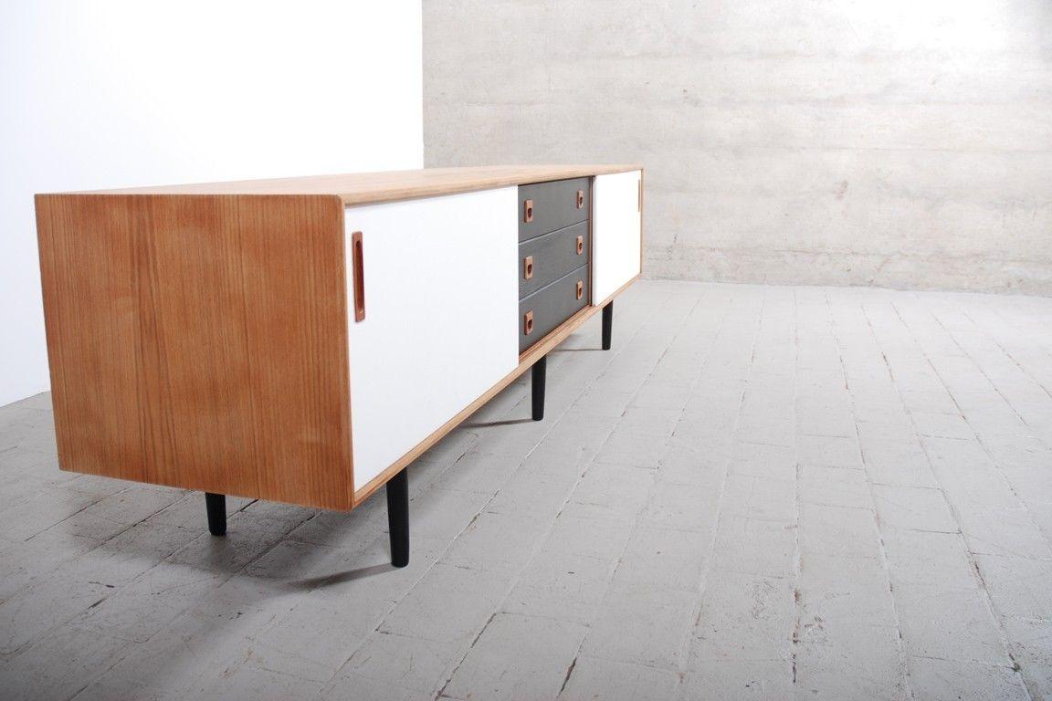 Enfilade meuble vintage 1950 1960 chêne design retro danois ...