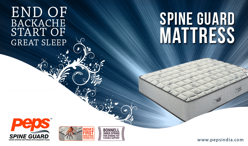 Memory Foam Peps India Mattress Spine Guard Mattresses S 1st Inner Spring With 100