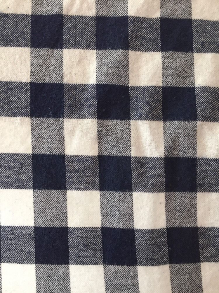 Navy & White Flannel Plaid Fabric - New! 42 Inches Wide - $5.50 per YARD  | eBay
