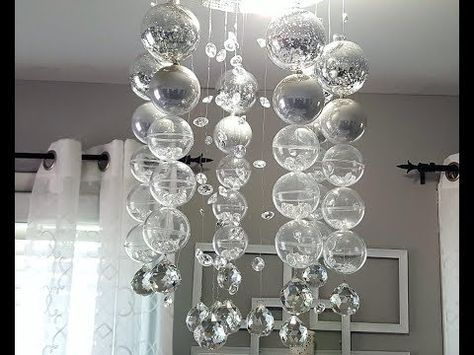 She Attaches Wire To Clear Ball Ornaments To Create This