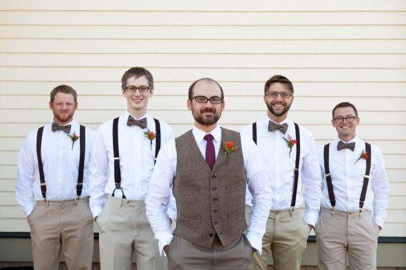 Illinois Barn Wedding Fall GroomsmenRustic