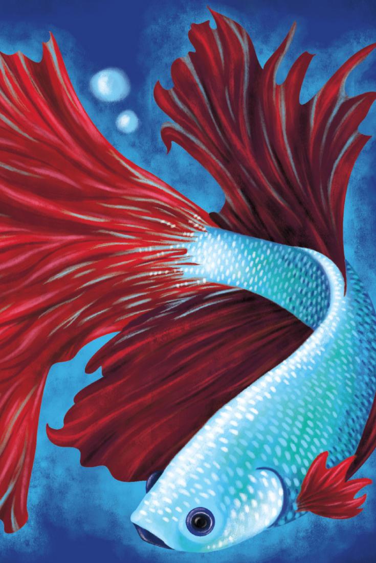 Acrylic Painting Ideas Bold Betta Fish Fish Art Fish Painting Acrylic Painting