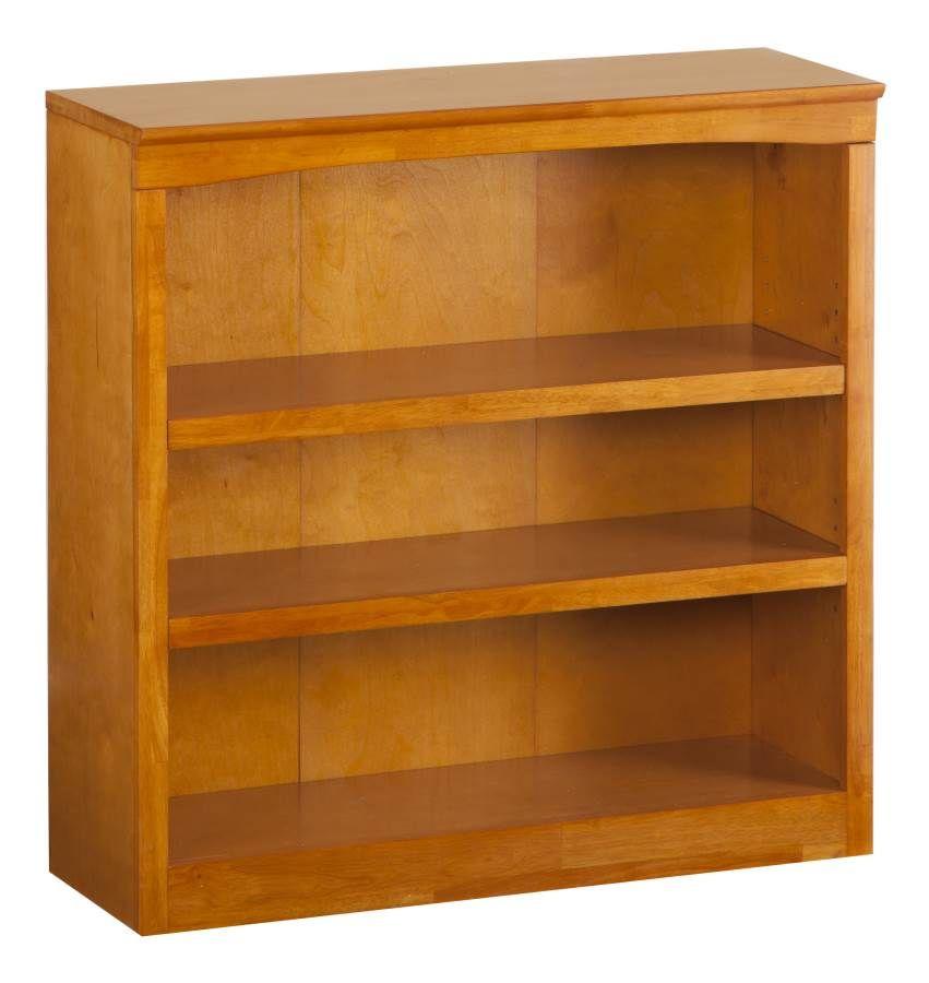 36 Inch Bookshelf In A Caramel Latte Atlantic Furniture Shelves
