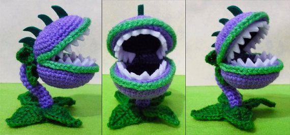 Crochet Chomper amigurumi Plants vs zombies | Kuscheltiere häkeln ...