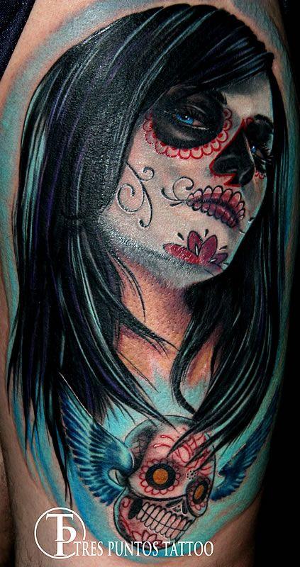 Dia de los muertos tattoo tattoos pinterest dia de for Dia de muertos tattoos
