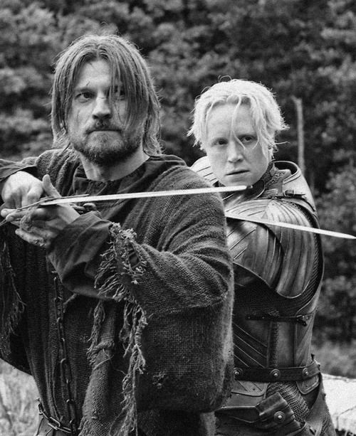 Brienne & Jaime. What will become of them now that the show has spun them into different storylines...
