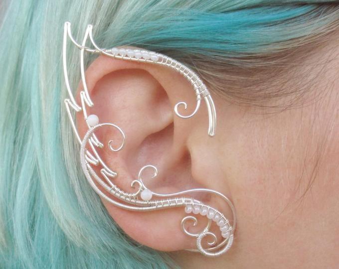 Puños de oreja de duende alegría púrpura – brazalete de oreja – orejas élficas – brazaletes de oreja de hada – brazalete de oreja, sin piercing
