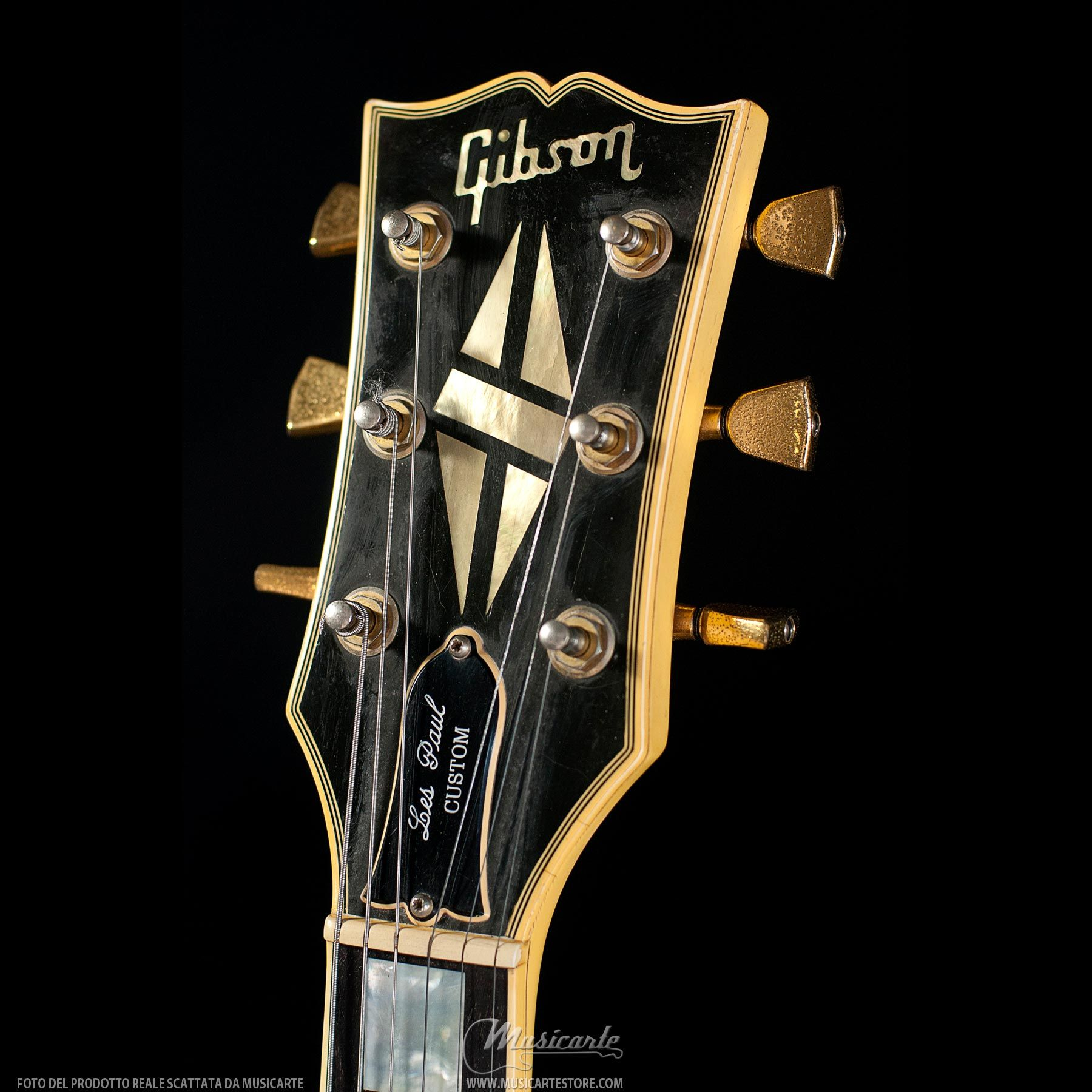Gibson Les Paul Custom Guitar Headstock Headstocks 1981 Wiring Harness Alpine White Guitars