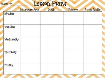 Weekly Lesson Plan Editable Template School Pinterest Lesson