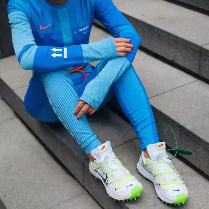 nike x off white blue leggings
