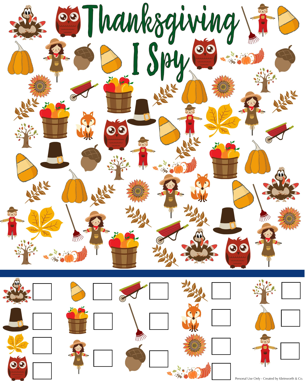 Www Kleinworthco Com Wp Content Uploads 2017 10 Thanksgiving I Spy Printable Jpg Thanksgiving Activities Thanksgiving Preschool Thanksgiving Games For Kids [ 3000 x 2400 Pixel ]