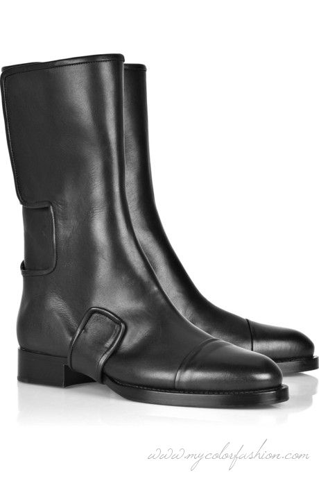 Jil Sander Leather Boots Inexpensive Online Cheap For Cheap Very Cheap Cheap Online Comfortable Buy Cheap Amazing Price 8161p