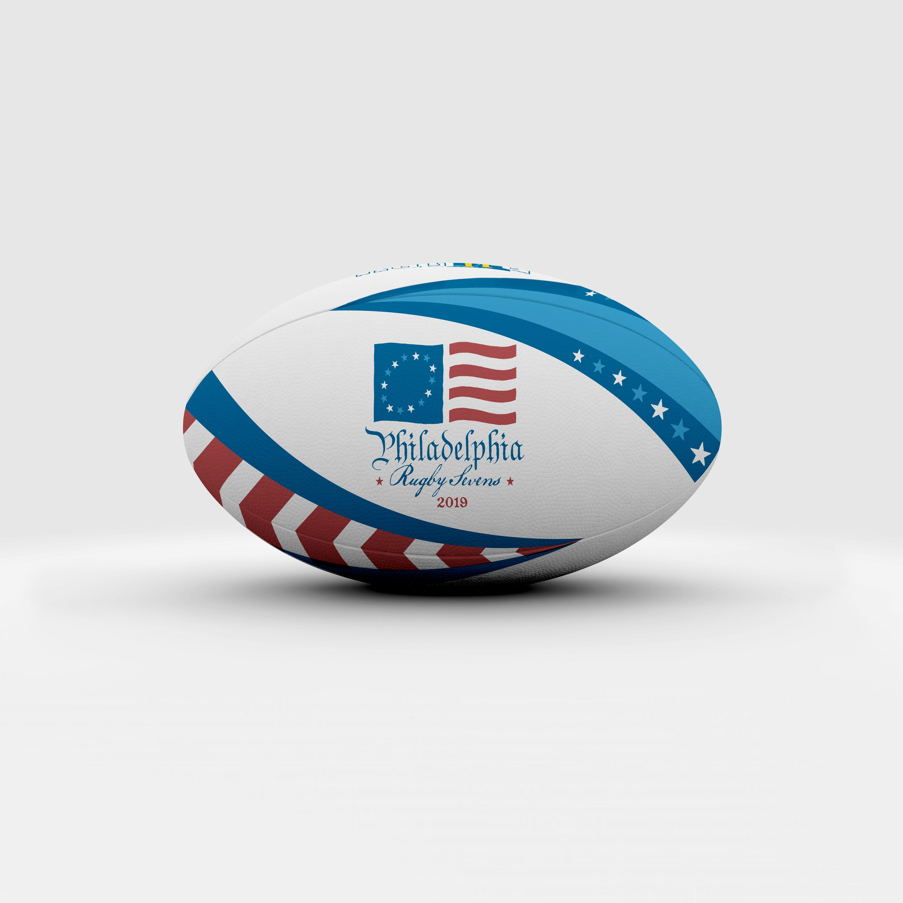 Philly 7s Rugby Tournament Branding Custom Tshirt Design Contemporary Logo Rugby