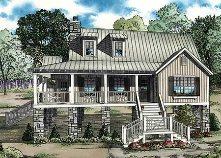 Coastal Style House Plans   Square Foot Upstairs Master BR    Coastal Style House Plans   Square Foot Upstairs Master BR   coastal cottage style   Pinterest