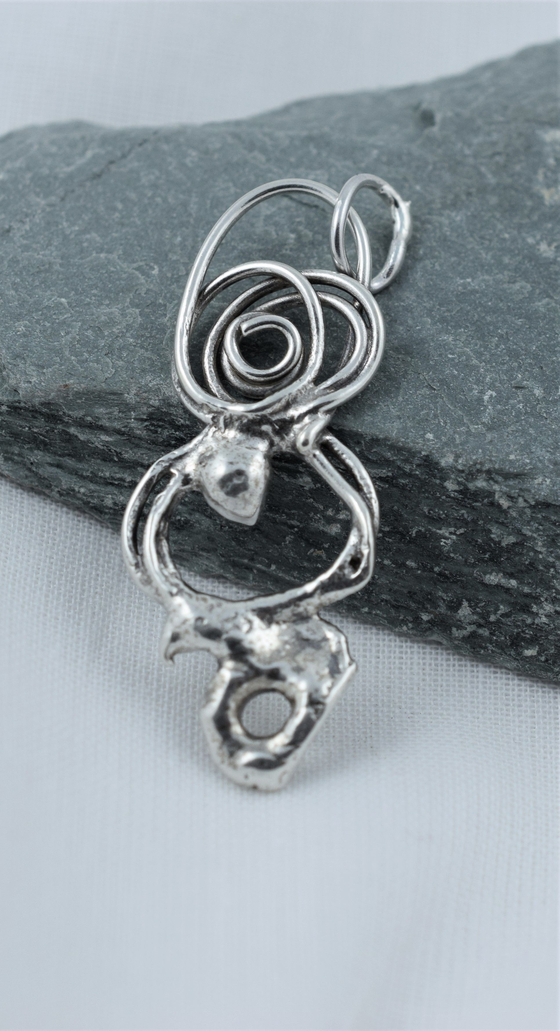 Handcrafted Sterling Silver Pendant Made Here In The Uk One Off Unusual And