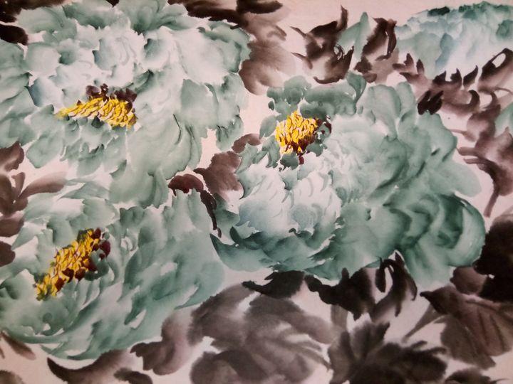 peony09262019-6 - sundongling watercolor  flower