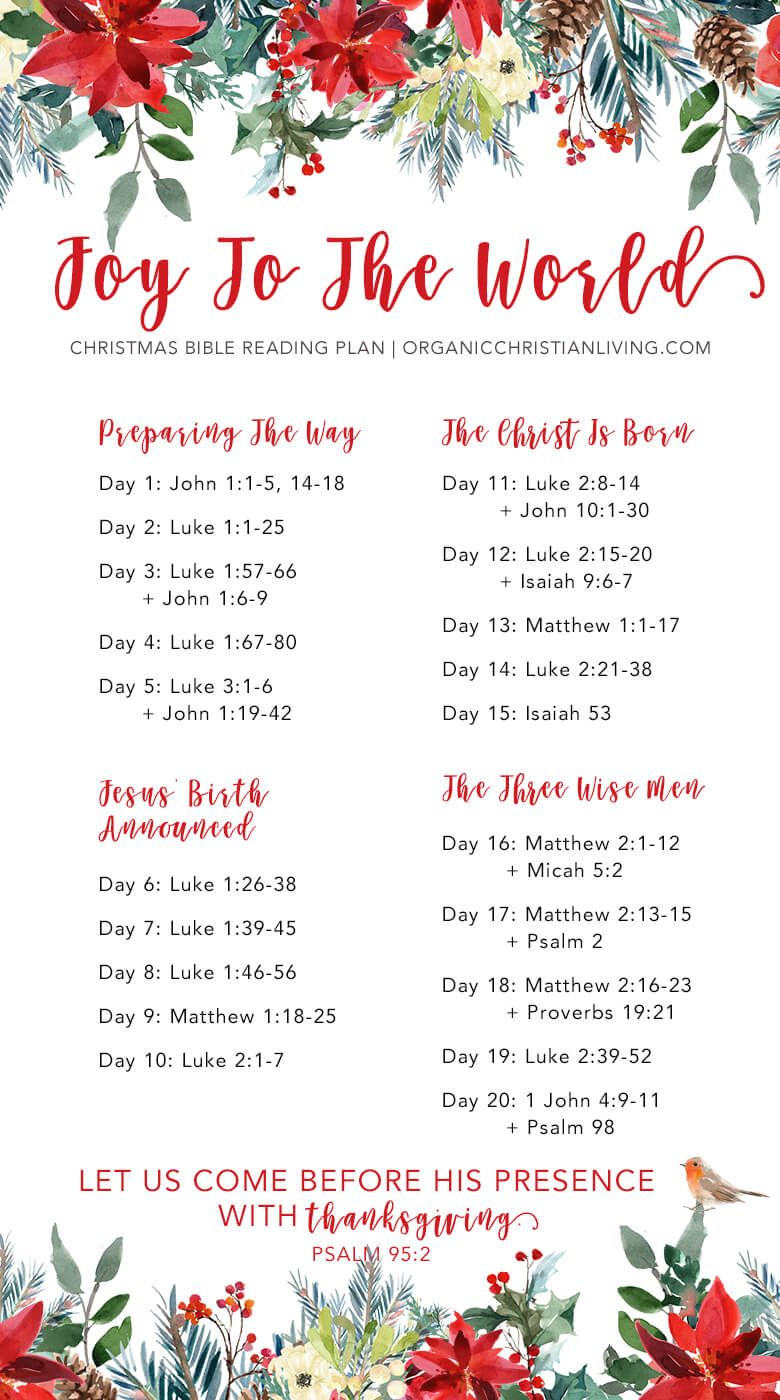 Christmas Bible Reading Plan | Christmas Bible Study | Christmas ...