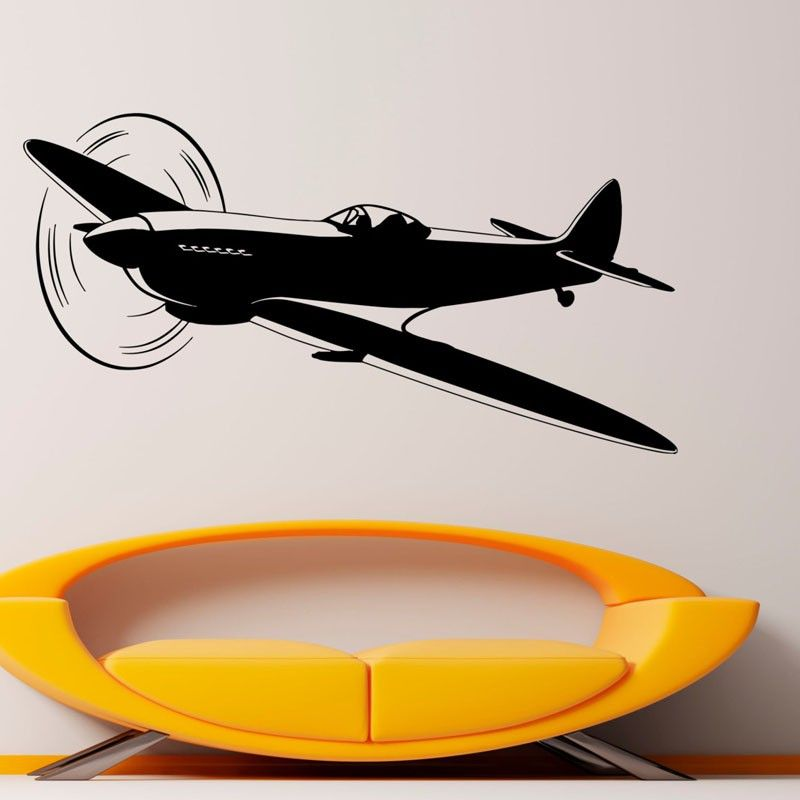 Hot Sale Airplane Wall Decals Vinyl Stickers Home Decor Kids Bedroom  Removable Adhesive Traffic Murals