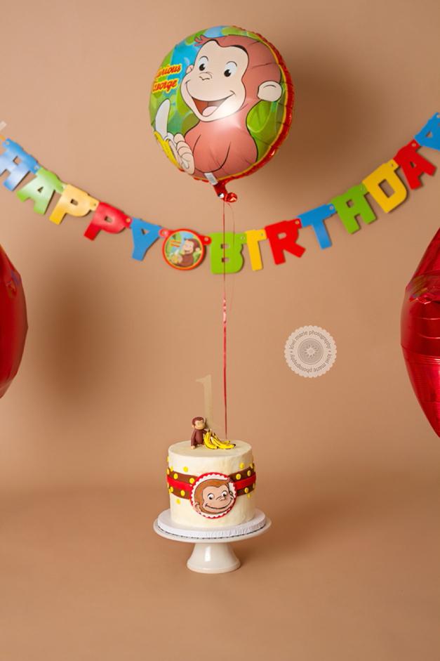 Monkeying Around Smash Cake Curious George