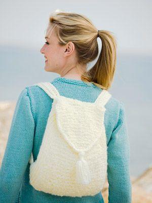 White Knit Backpack Backpacks Knit Crochet And Crochet