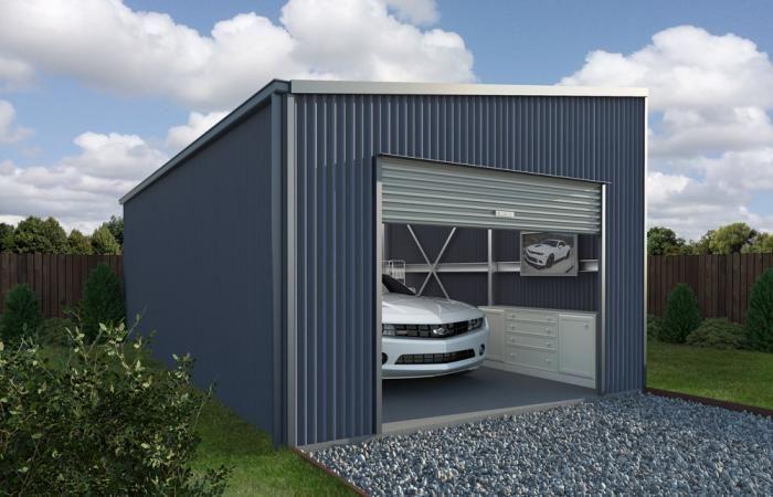 Garages Sheds Jacksonville Fl skillion roof garage   wide span sheds can custom design a