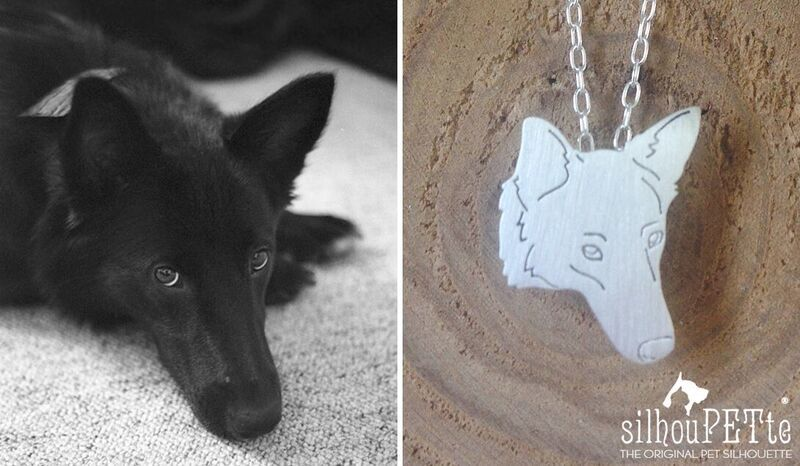 silhouPETte custom dog charm, gift for dog lover, holiday gift, pet memorial gift, dog jewelry