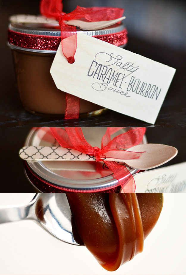Salty Caramel-Bourbon Sauce | 24 Delicious Food Gifts That Will Make Everyone Love You