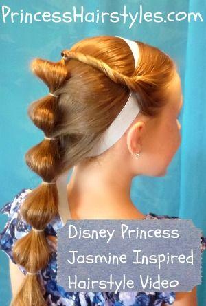 Disney Princess Hairstyles Jasmine Hair Princess Hairstyles Kids Hairstyles