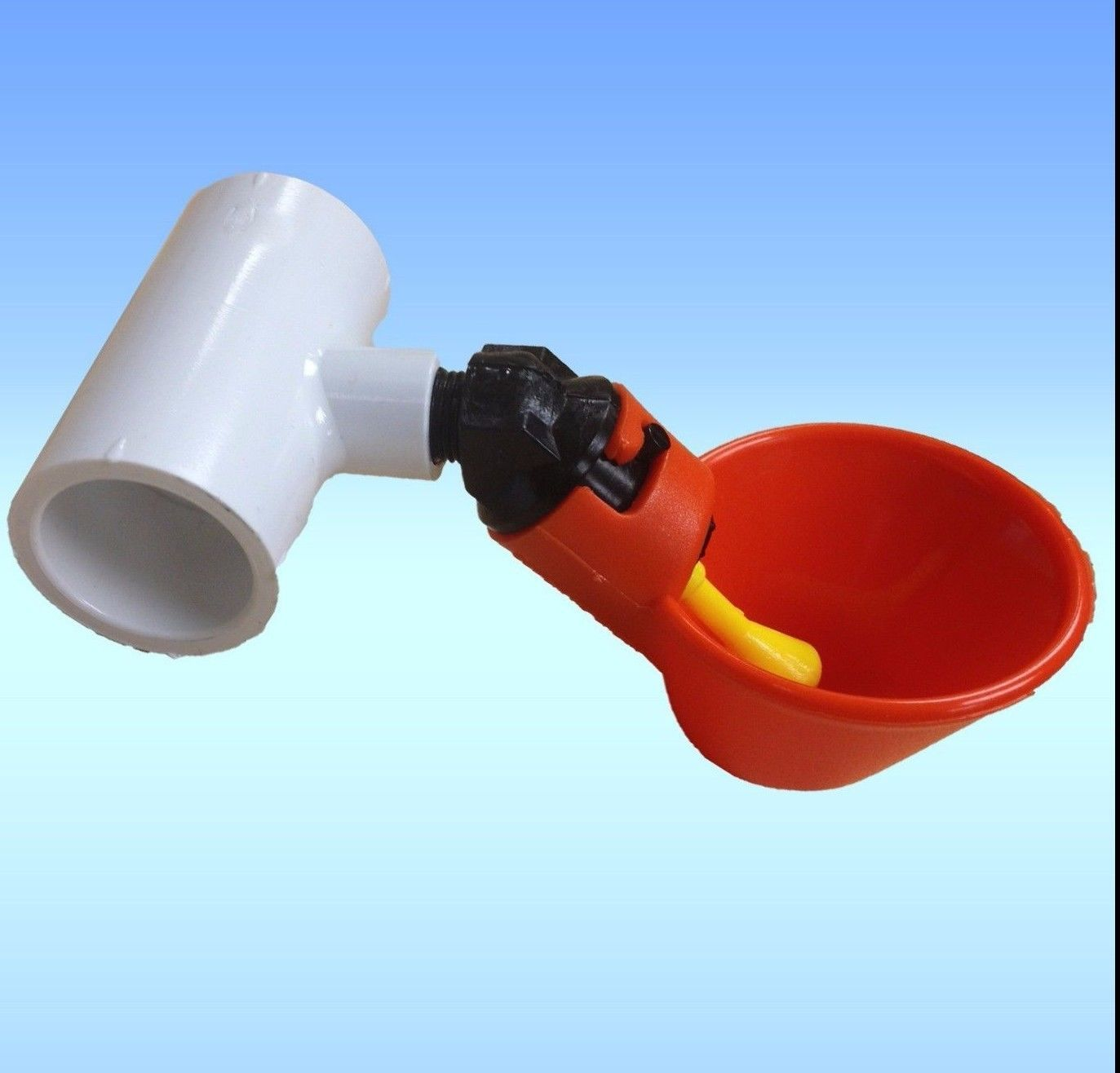 12 95 3 Poultry Water Drinking Cups Pvc Tee Fittings Chicken Drinker Beaktime Farm Ebay Home Garden Poultry Supplies Backyard Poultry Poultry