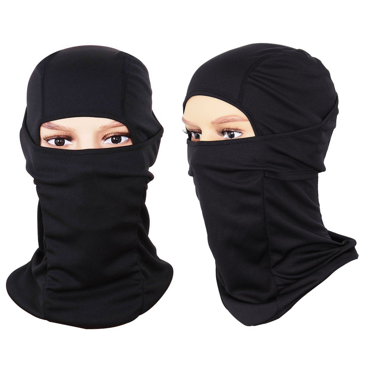 Balaclava For Warmth And Wind Protection Covering Your Neck Makes A Big Difference 20 For 2 Pack At Amazon Cycling Hat Helmet Liner Ski Mask