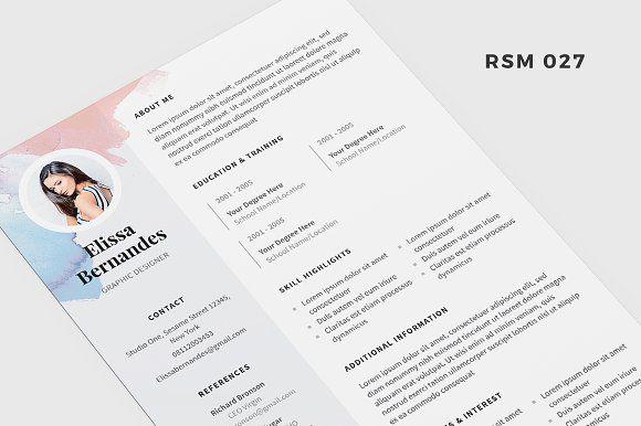 "Resume Templates Indesign Amusing Resume Template  ""iris""  Template Cv Template And Indesign Templates"