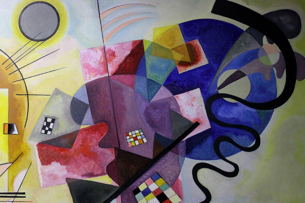 Vassily kandinskij giallo rosso blu olio su tela 1925 musée