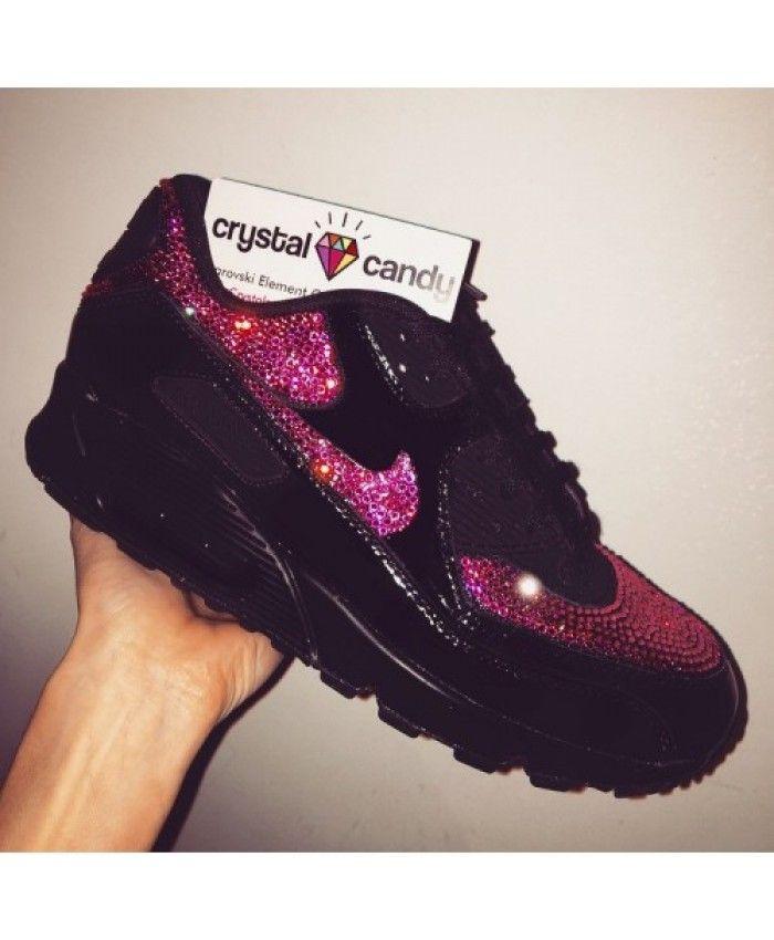 48e0ab49e261 Chaussure Nike Air Max 90 Crystal Noir Rose De Stockage
