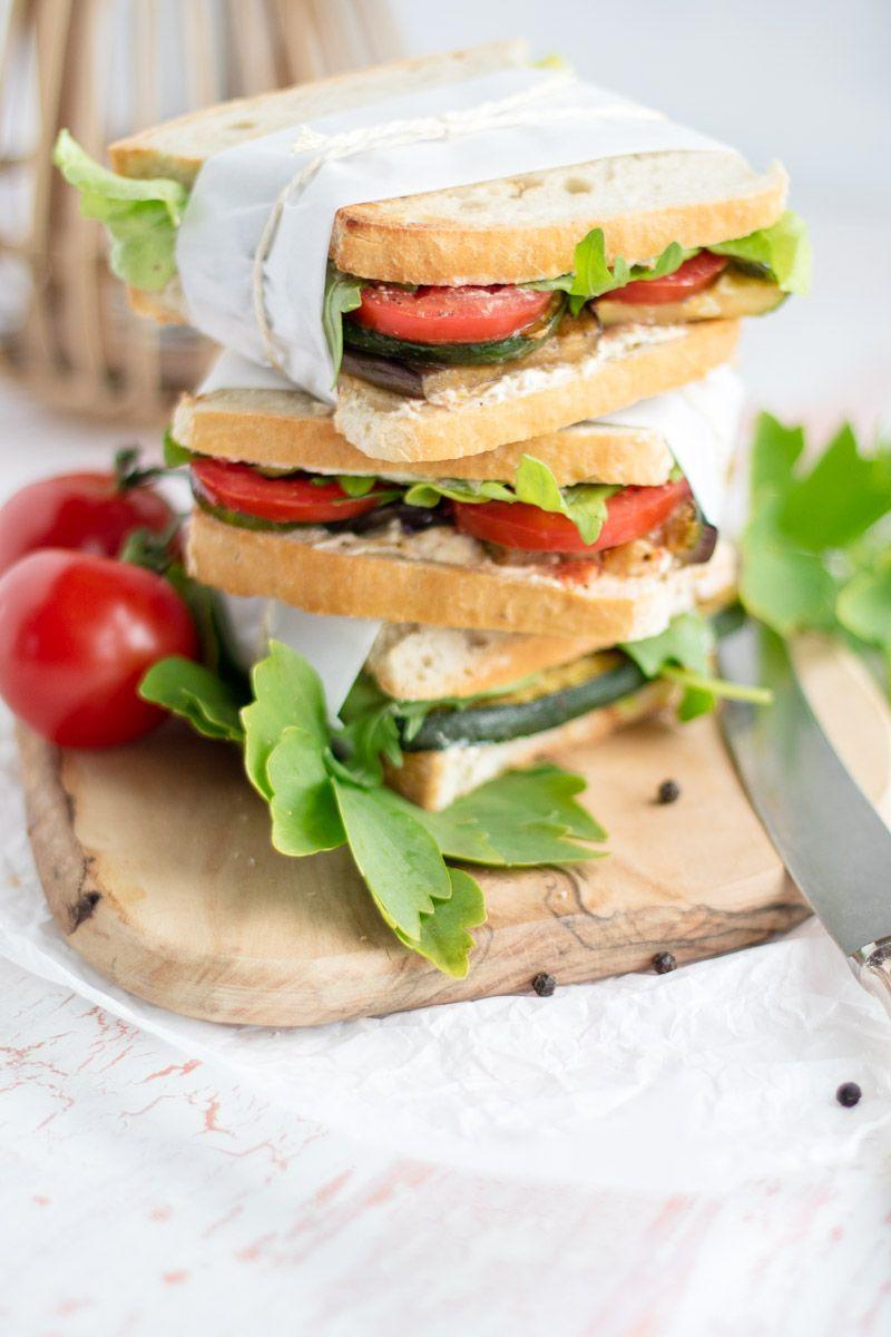 Rezept für leckere, würzige, vegetarische Gemüsesandwiches für eueren Picknickkorb