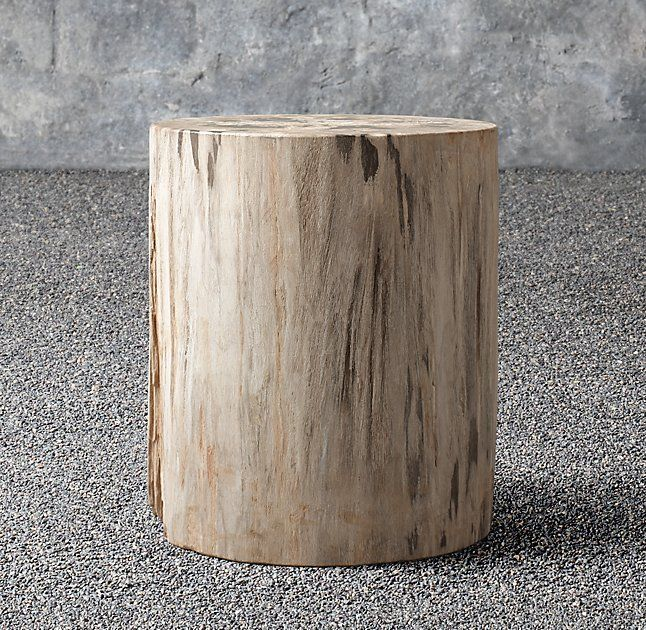 Petrified Wood Outdoor Round Side Table   Gilmartin Patio   Pinterest
