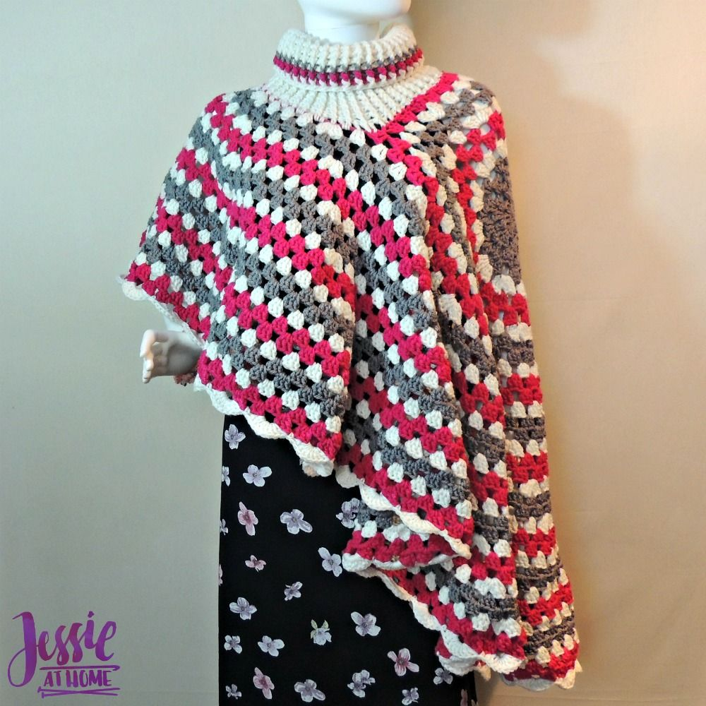Circular Poncho - free crochet pattern by Jessie At Home - 3 | To do ...