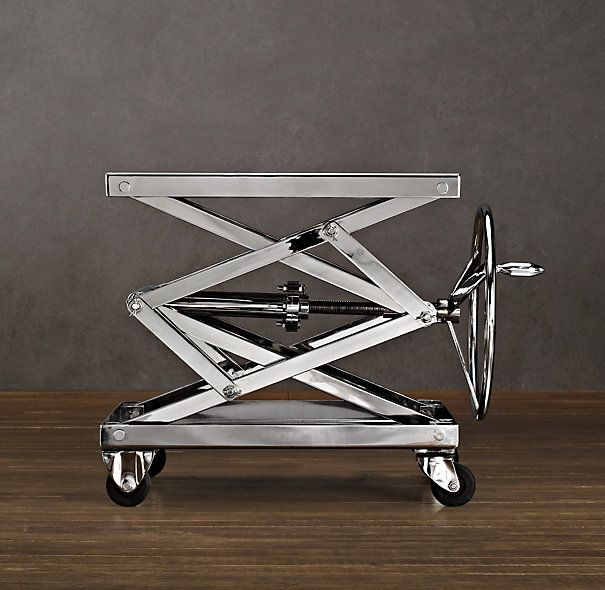 Industrial Scissor Lift Table Polished Stainless Steel We
