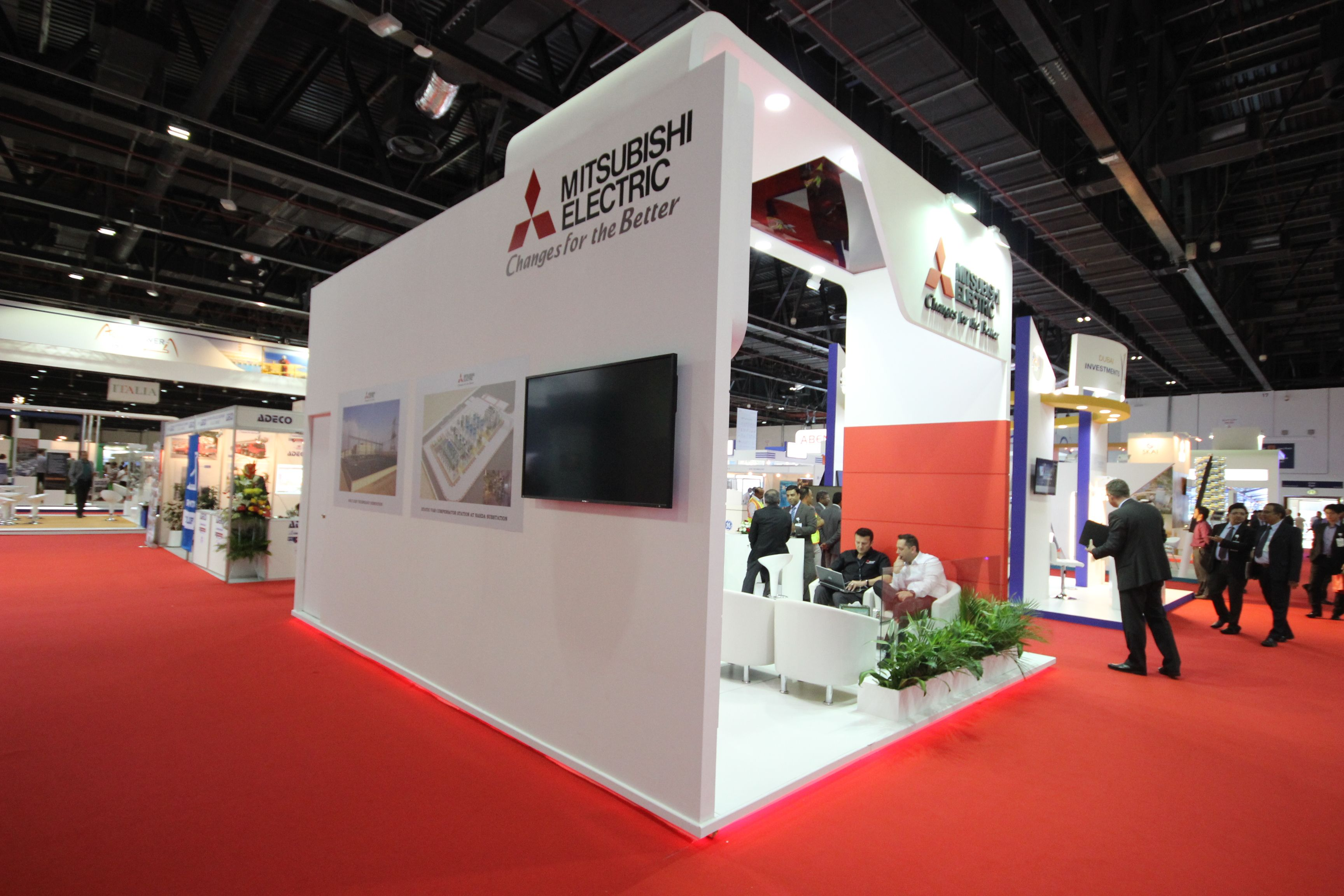 Exhibition Stand Construction : Mitsubishi electric stand by mind spirit design dubai