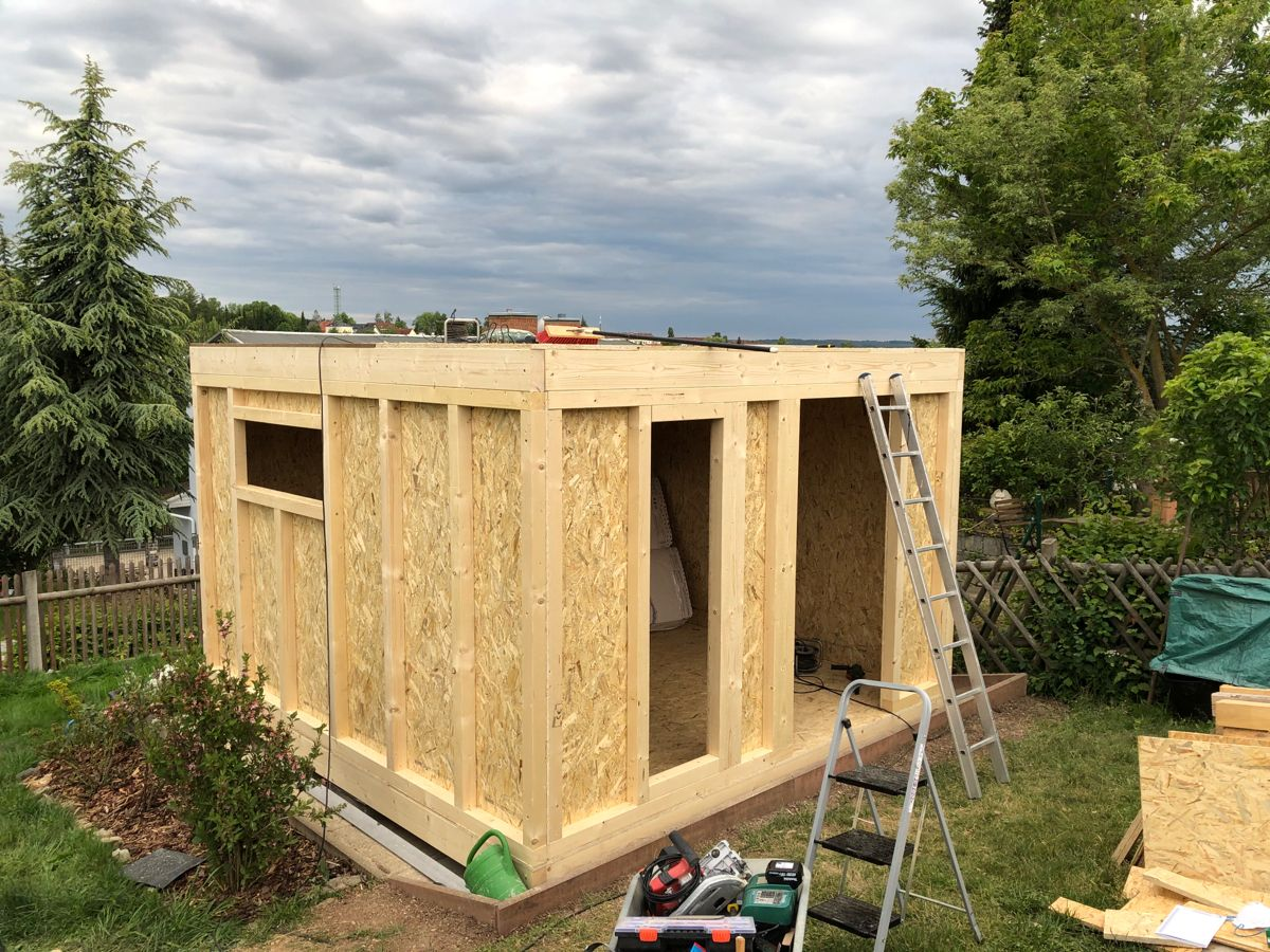 Holzstanderbauweise Gartenhaus Gartenlaube Selber Bauen Gartenhaus Bauen Gartenhaus
