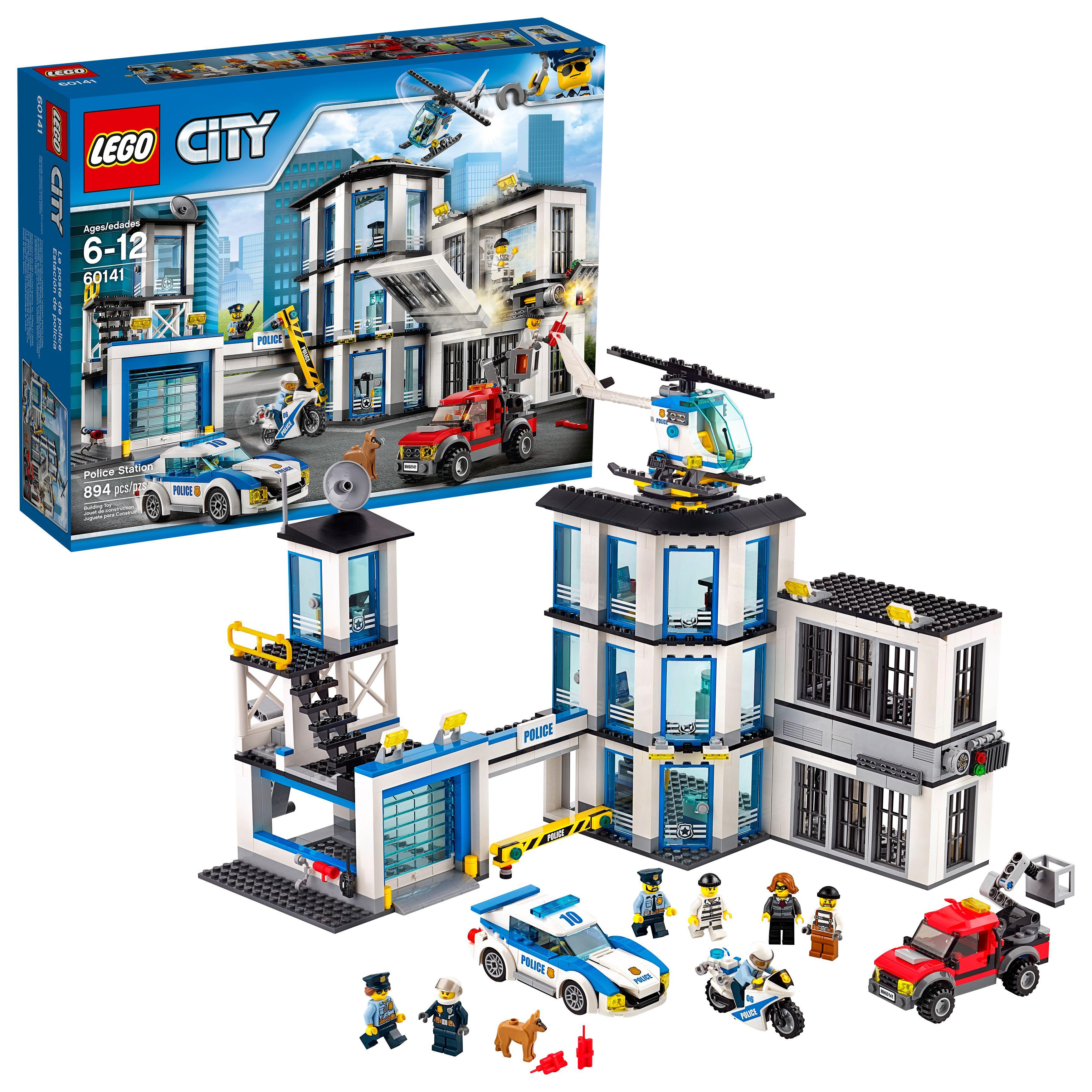 Lego City Police Station 60141 Building Set 894 Pieces Walmart Com Lego City Police Station Lego City Police Lego City Sets