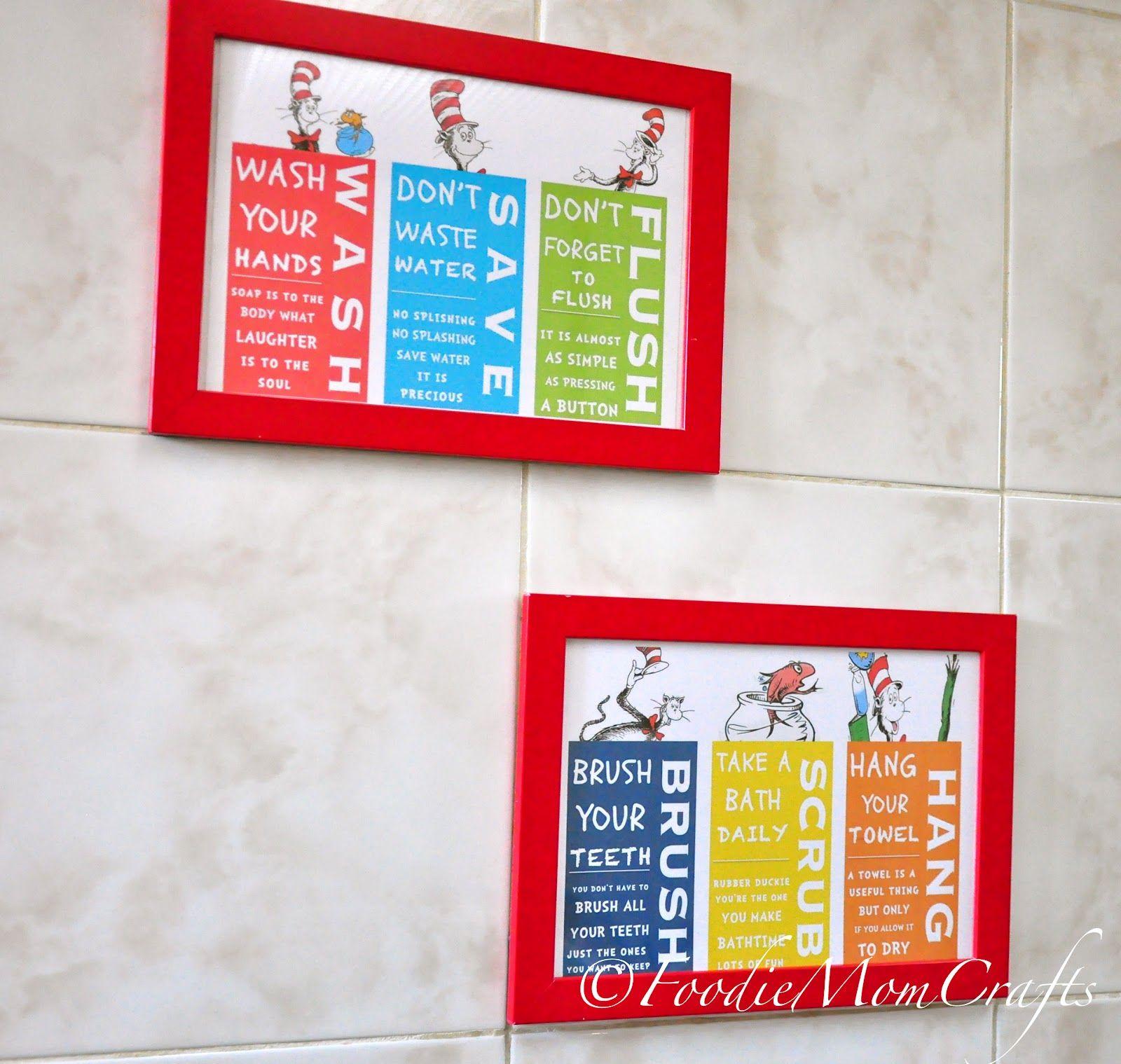 Dr Seuss bath signs (brush, wash, flush, etc). | Crafts & Decor I ...