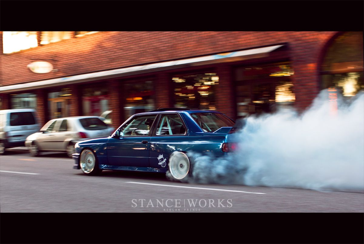Bmw E30 M3 Turbo Tire Smoke