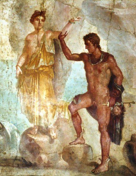 Andrómeda Y Perseo Arte Romano Pintura Al Fresco Arte Antiguo